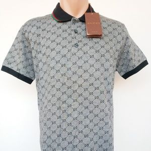 2e57a79c1 Gucci Polo Shirt Gray Size L Men & Women Cotton